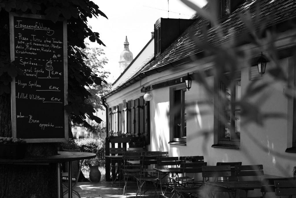 Garten der Pizzeria La Fattoria Freising