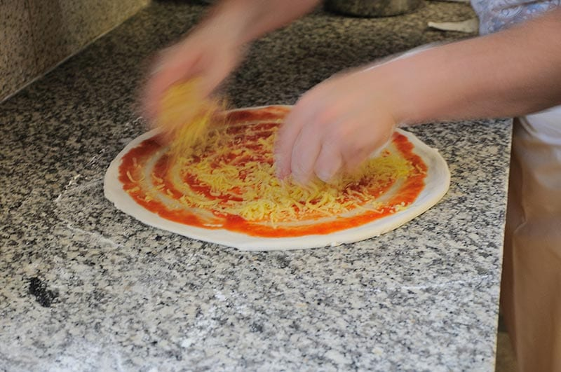Pizzaherstellung La Fattoria Freising